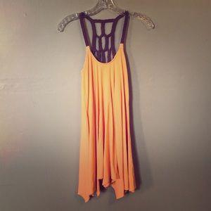 Orange tunic top